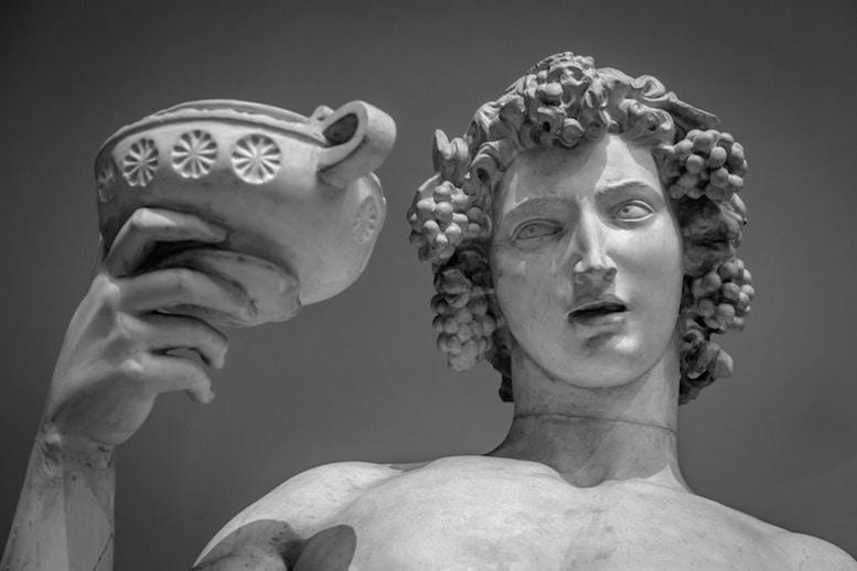 Le dieu Bacchus (ou Dionysos) et la légende de l'Améthyste