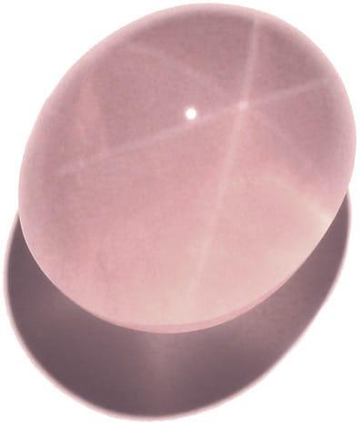 Le quartz rose étoilé, un bel exemple d'astérisme