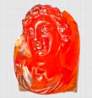 Camée en cornaline représentant un jeune prince fils de Ptolémée VI et Cléopâtre II, vers 170 av. JC