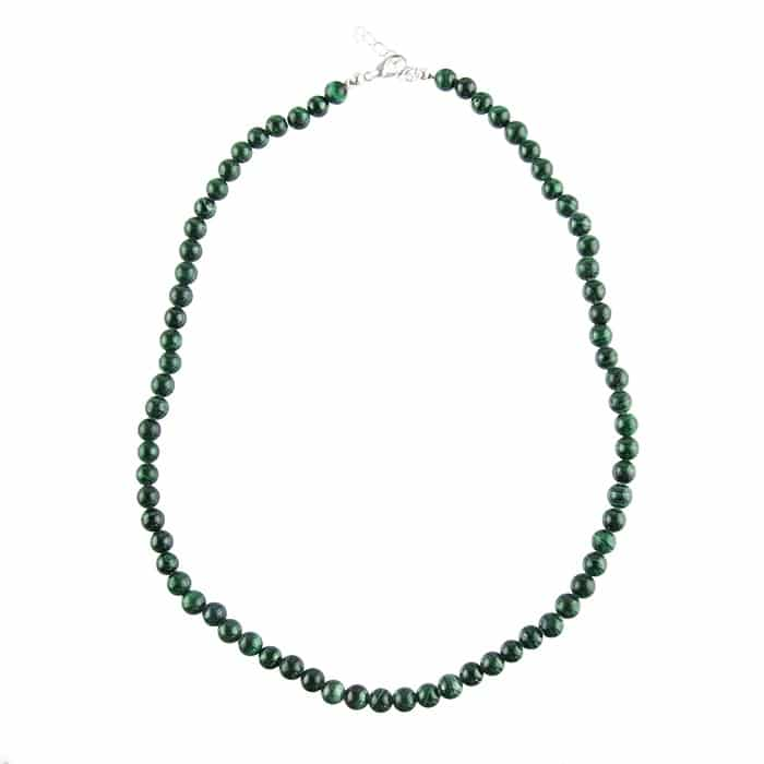 Collier en Malachite - Pierres Boules de 6 mm