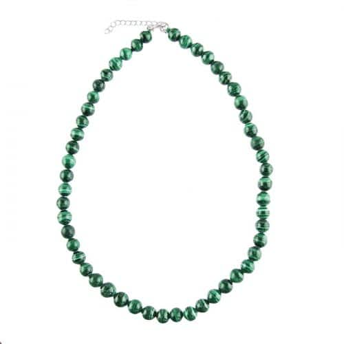 Collier en Malachite - Pierres Boules de 8 mm