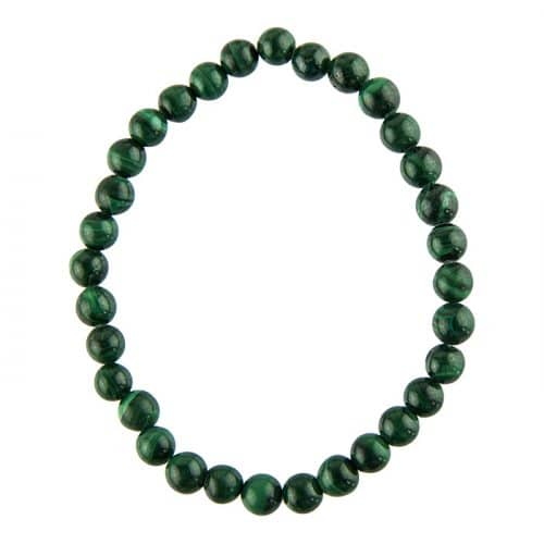 Bracelet Malachite - Pierres Boules 6mm