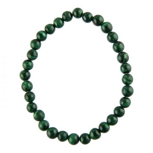Bracelet Malachite - Pierres Boules 6mm