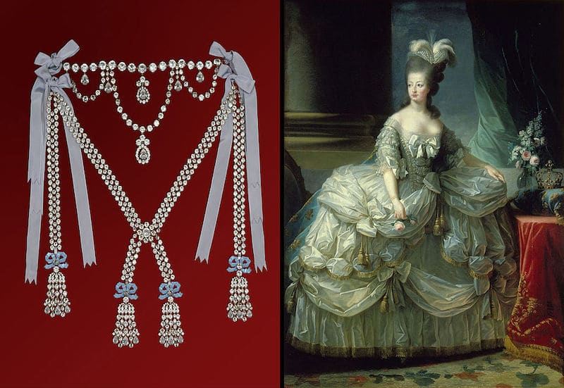"""Affaire du """"Collier de la Reine"""" impliquant Marie-Antoinette  Lithothérapie en Ligne"""