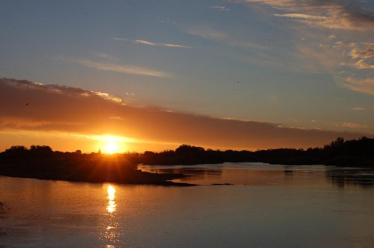 Le fleuve Orange en Afrique du Sud, principal source d'extraction des diamants dans le monde