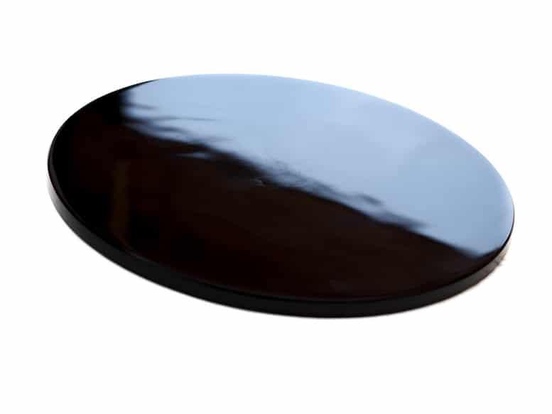 Miroir noir en obsidienne