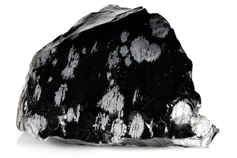 Obsidienne flocons de neige | Lithothérapie en Ligne