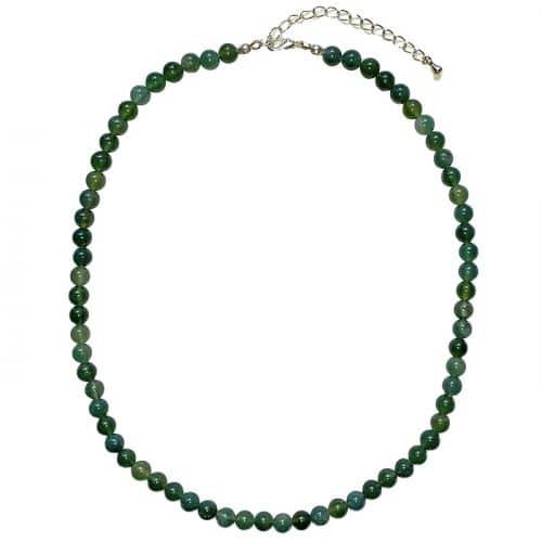 Agate Naturelle - Collier Boules 6mm | Boutique de Minéraux