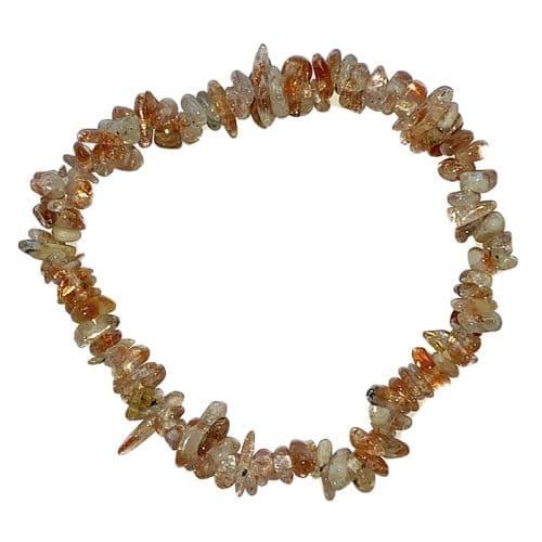 Bracelet Baroque en Pierre de Soleil   Boutique de Minéraux