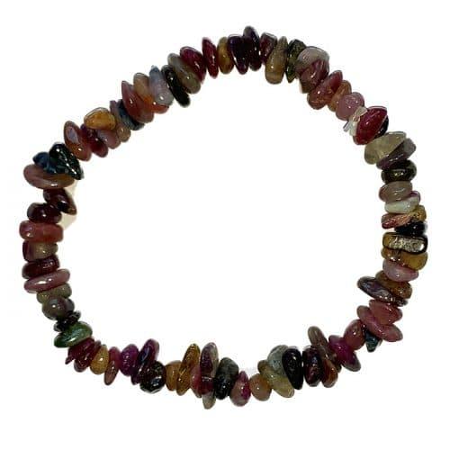 Bracelet Baroque en Tourmaline Multicolore   Boutique de Minéraux