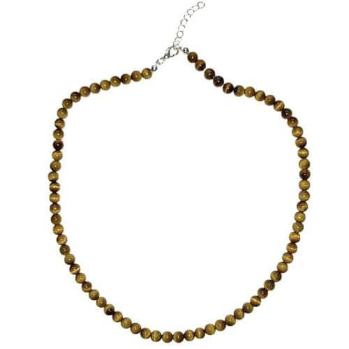 Oeil-de-Tigre - Collier Boules 6mm | Boutique de Minéraux