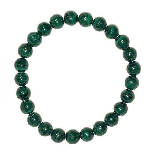 Malachite - Bracelet Pierres Boules 8 MM | Boutique de Pierres et Cristaux