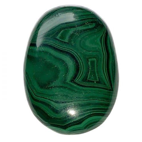 Malachite - Pierre Plate (Galet) | Boutique de Minéraux | Lithothérapie en Ligne