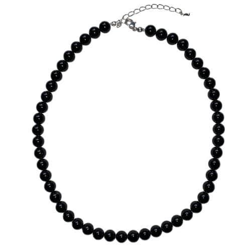 Tourmaline Noire - Collier Boules 8mm | Boutique de Minéraux